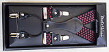 Чоловічі підтяжки Paolo Udini червоно-чорні, фото 3