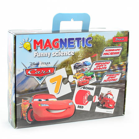 """Пазл магнитный развивающий А4 """"Funny science"""" """"Cars"""", фото 2"""