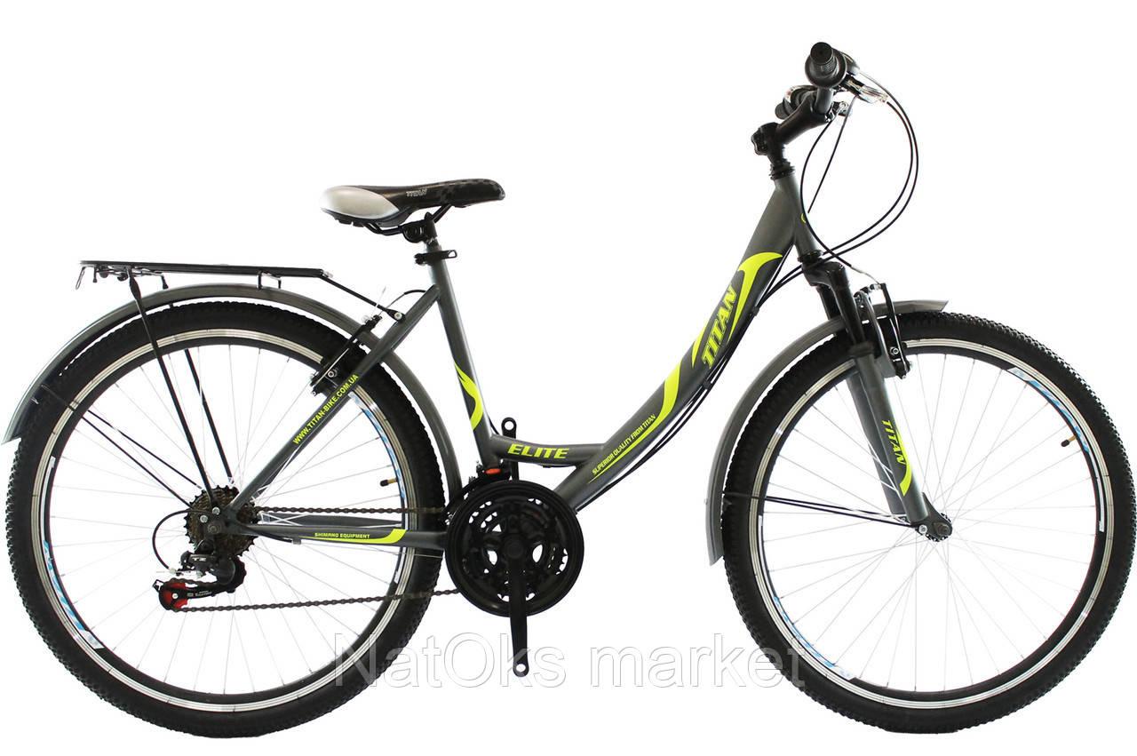 """Велосипед Titan Elite 26"""" Gray-Green-White"""