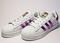 Кроссовки женские Adidas Superstar (реплика) 30014