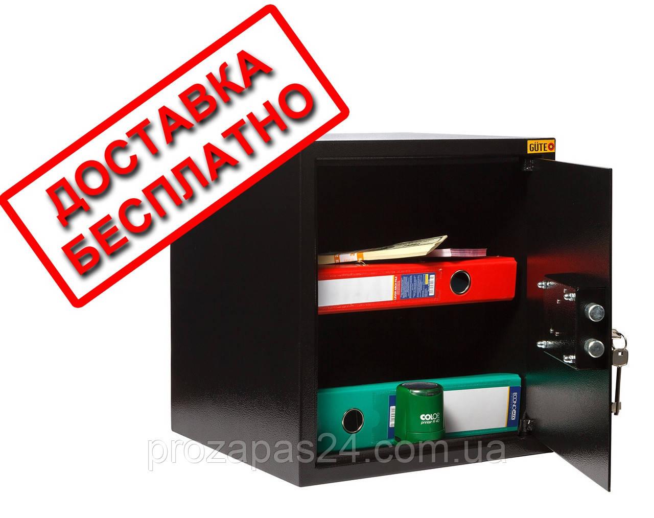 Сейф мебельный черный СМК-3610 для дома офиса ВхШхГ 38х35х36см