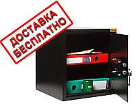 Сейф мебельный черный СМК-3610 для дома офиса ВхШхГ 38х35х36см, фото 1