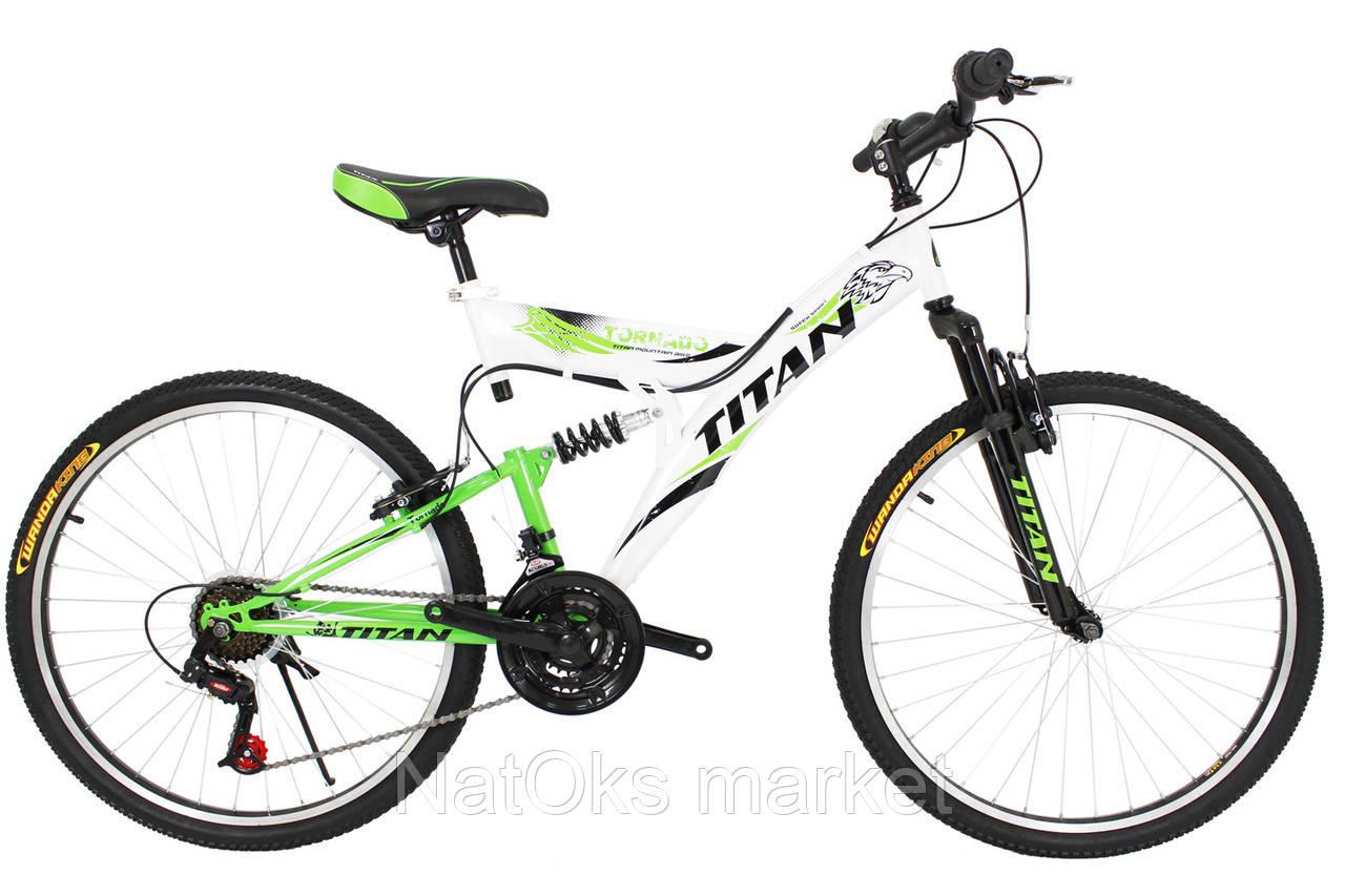 "Велосипед Titan Tornado 26"" White-Black-Green"