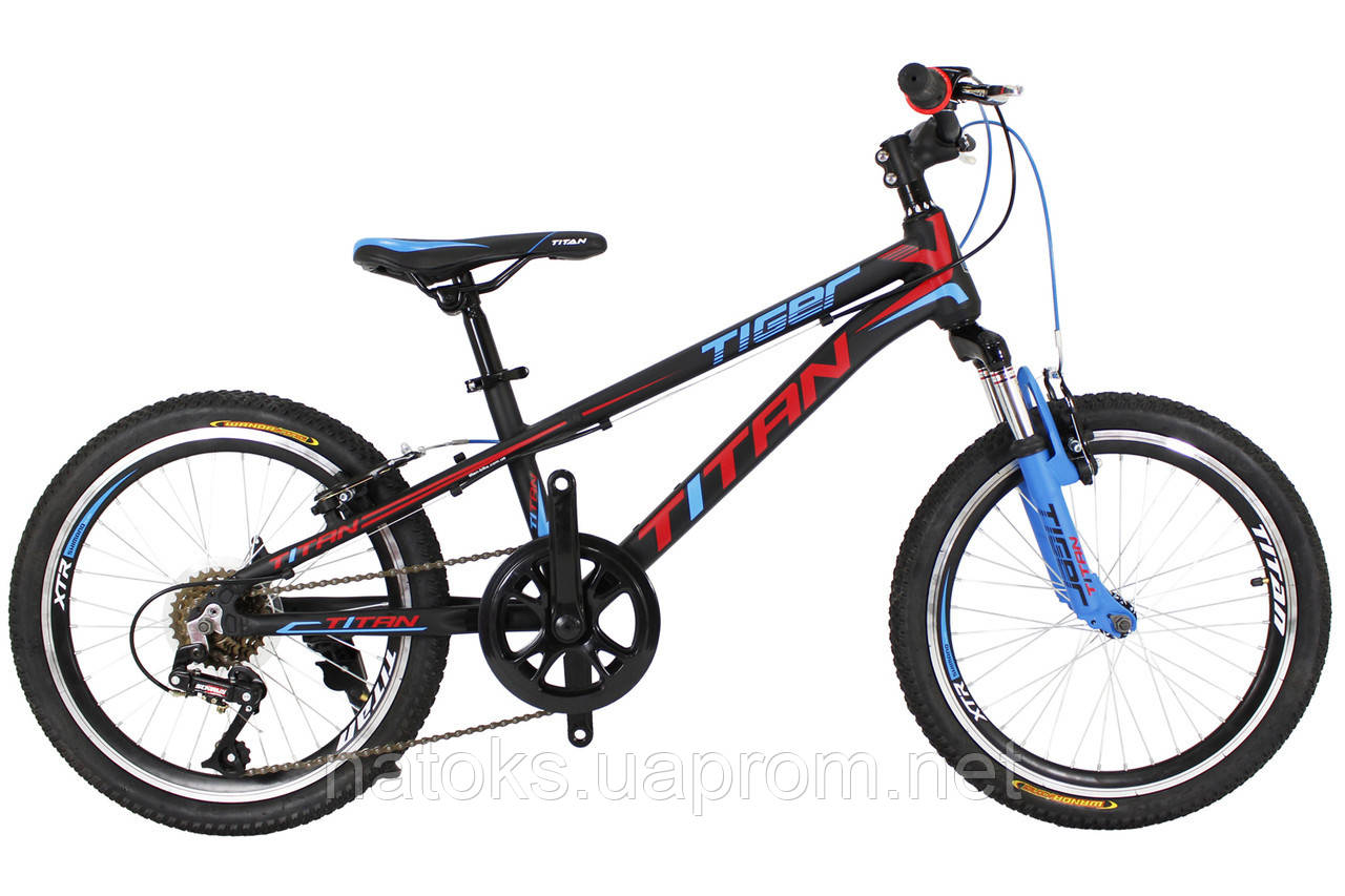 """Велосипед Titan Tiger 20"""" Black-Red-Blue Алюминий"""