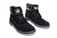 Зимние ботинки (на меху)  мужские CAT 13037 (реплика)