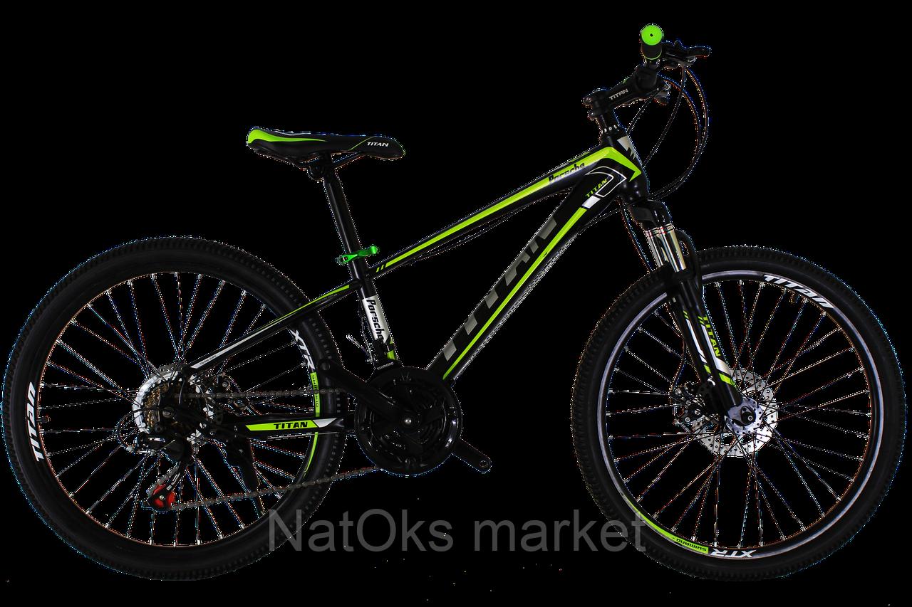 "Велосипед Titan Porsche 24"" Black-Green-Gray"