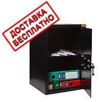 Сейф мебельный черный СМК-5610 для дома офиса ВхШхГ 52х35х36см
