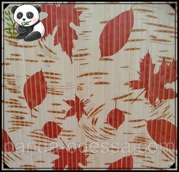 "Бамбуковые обои ""Осень"", 1,5 м, ширина планки 17 мм / Бамбукові шпалери"