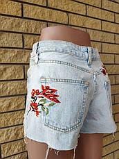 Шорты женские джинсовые коттоновые с высокой посадкой NN, фото 3