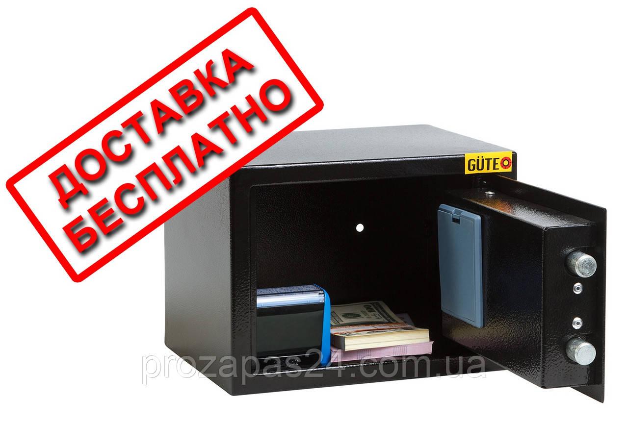 Сейф мебельный черный СМЕ-1710 для дома офиса ВхШхГ 17х23х17см