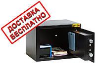 Сейф мебельный черный СМЕ-1710 для дома офиса ВхШхГ 17х23х17см, фото 1