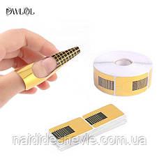 """Формы для наращивания ногтей """"Золото"""" - рулон 500 шт. ( 3,5 см.), фото 3"""
