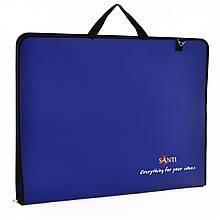 Папка-портфель SANTI для эскизов А2, (450*39*715мм), синяя