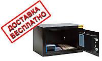 Сейф мебельный черный СМЕ-2010 для дома офиса ВхШхГ 20х31х20см
