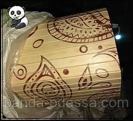 "Бамбуковые обои ""Мотивы"" светлый фон, высота рулона 0,9 м, ширина планки 17 мм / Бамбукові шпалери"