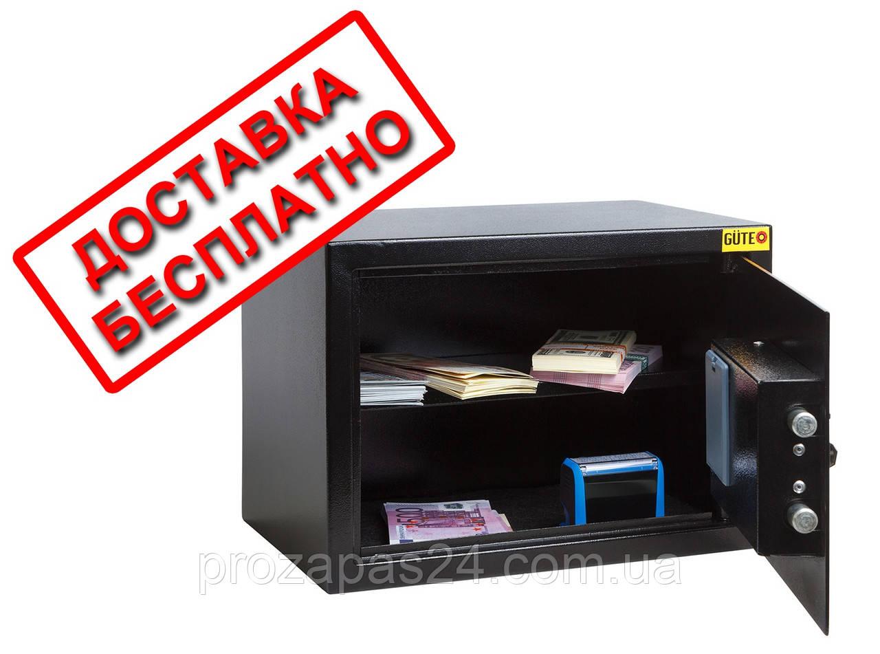 Сейф мебельный черный СМЕ-2510 для дома офиса ВхШхГ 25х35х25см