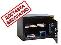 Сейф мебельный черный СМЕ-2510 для дома офиса ВхШхГ 25х35х25см, фото 1