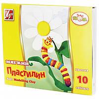 """Пластилин мягкий 10 цв. """"Кроха"""" 165г. 12С875-08 к/к, со стеком"""