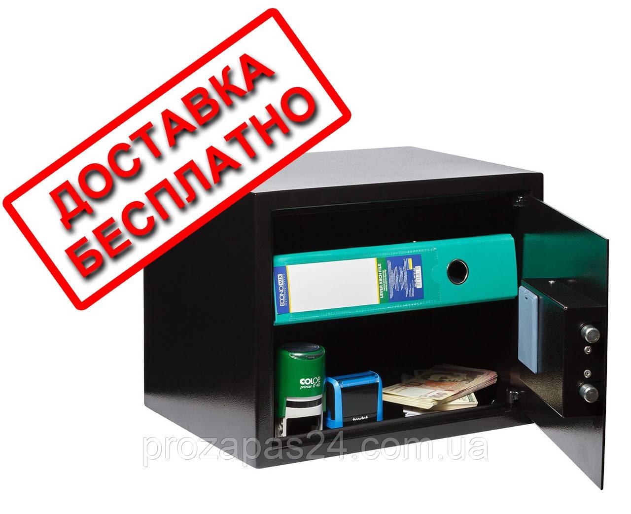 Сейф мебельный черный СМЕ-3010 для дома офиса ВхШхГ 30х38х30см