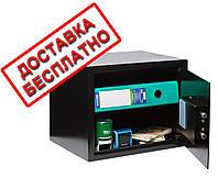 Сейф мебельный черный СМЕ-3010 для дома офиса ВхШхГ 30х38х30см, фото 1