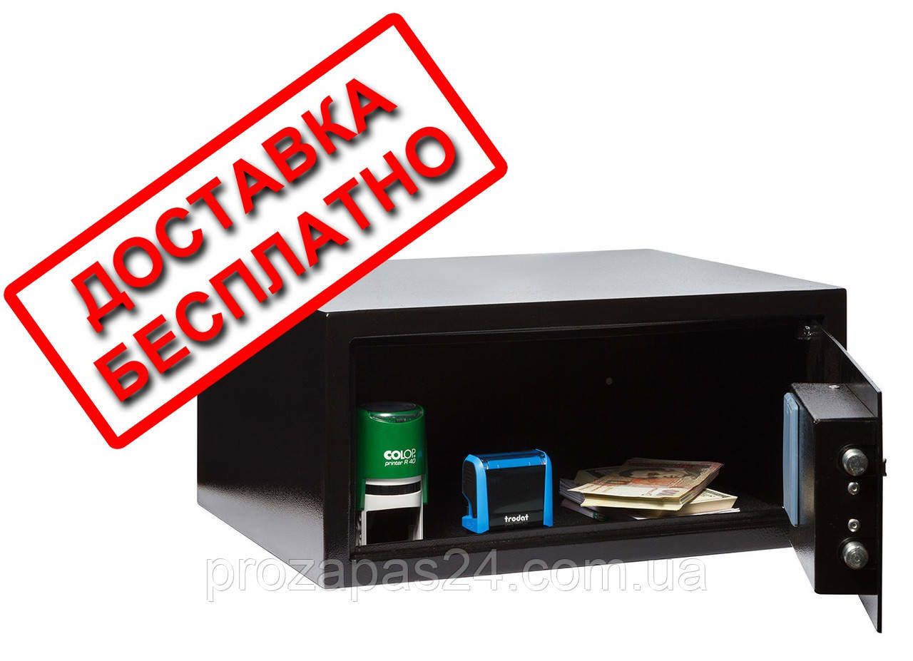 Сейф мебельный черный СМЕ-3510 для дома офиса ВхШхГ 20х43х35см