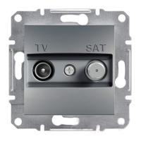 Розетка TV-SAT оконечная 1dB Сталь Schneider Asfora plus (EPH3400162), фото 1