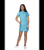 Модный женский медицинский халат -рубашка  . Размеры 42 - 56