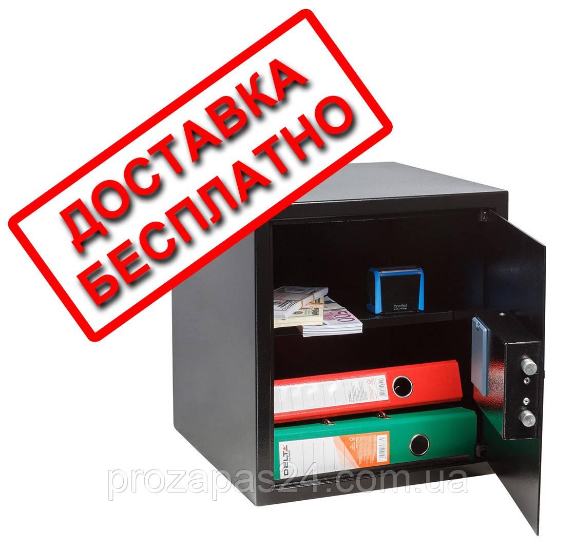 Сейф мебельный черный СМЕ-3610 для дома офиса ВхШхГ 38х35х36см