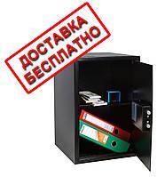 Сейф мебельный черный СМЕ-5610 для дома офиса ВхШхГ 52х35х36см, фото 1