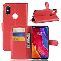 Чехол-книжка Litchie Wallet для Xiaomi Mi 8 SE Красный