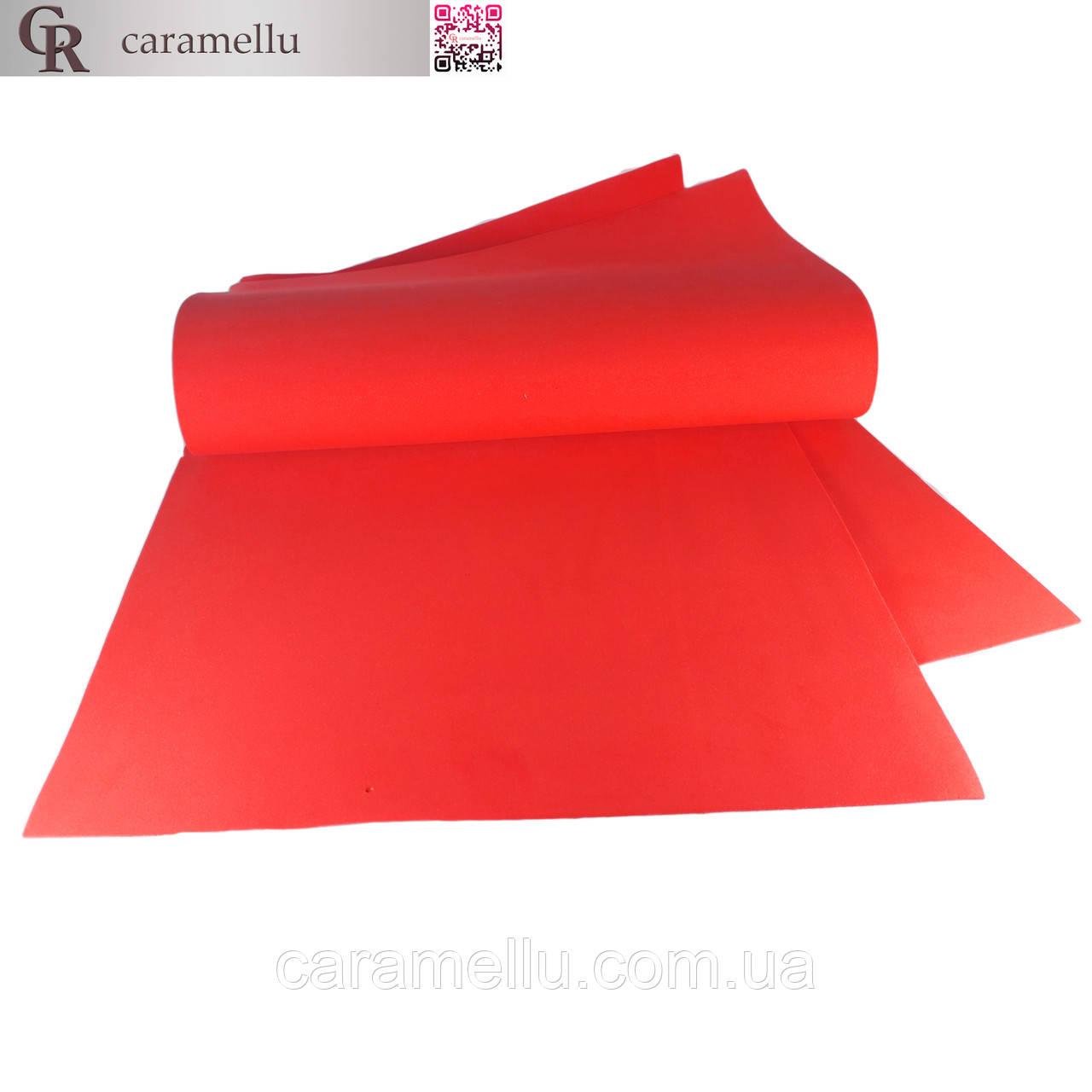Фоамиран иранский 135, Светло-красный, 1мм,  70х60см.
