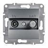 Розетка TV-SAT оконечная 4dB Сталь Schneider Asfora plus (EPH3400262)