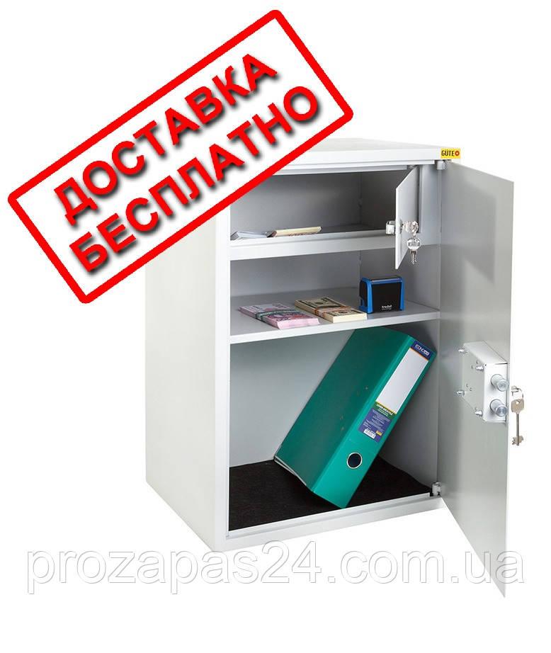 Сейф бухгалтерский серый СБК -6540  ВхШхГ 65х45х35см