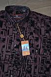 Бордовая классическая рубашка с коротким рукавом NUOAISI (размеры 38,39.40.41.42.43.44.45.46) РАСПРОДАЖА !!!, фото 2