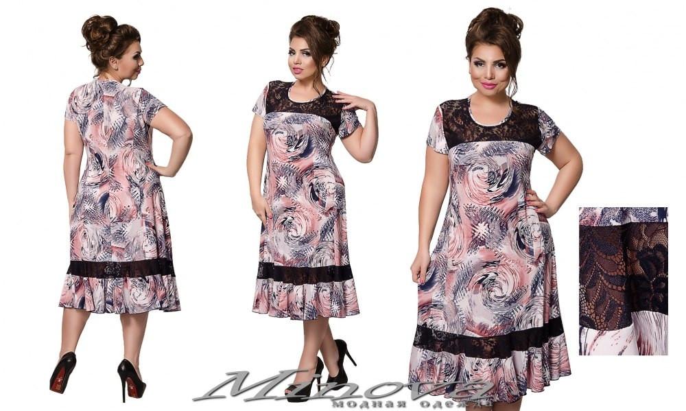 Сукня №221 (рожевий) Розміри 56,58,60,62,64