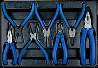 Комплект шарнирно-губцевого инструмента в лотке 7 пр