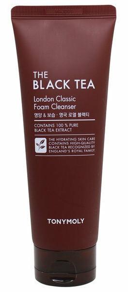 Пенка для умывания с экстрактом черного чая Tony Moly Black Tea London Classic Cleansing Foam 80 мл