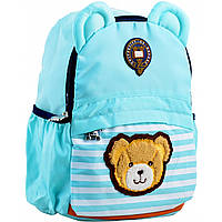 Рюкзак детский j100, 32*24*14.5, голубой