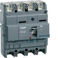 Hager Автоматический выключатель x250, In=125А, 4п, 40kA, Трег./Мрег. HNB126H