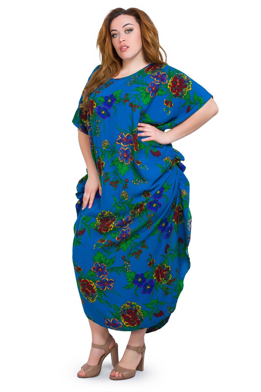 Женское платье  с завязками по боках  1281-1
