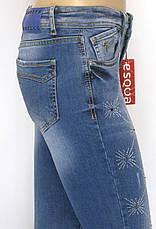 Жіночі джинси з стразами маломірки, фото 2
