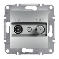 Розетка TV-SAT проходная 8dB Алюминий Schneider Asfora plus (EPH3400361), фото 1
