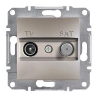 Розетка TV-SAT проходная 8dB Бронза Schneider Asfora plus (EPH3400369), фото 1