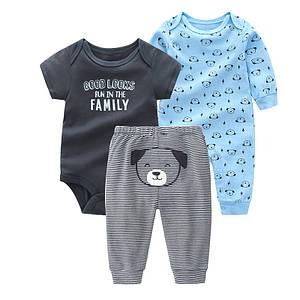 Комплект 3 в 1. Carter's - Dog friend. детская одежда, интернет магазин детской одежды, новорожденный одежда