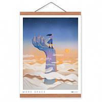 Постер с креплением Space