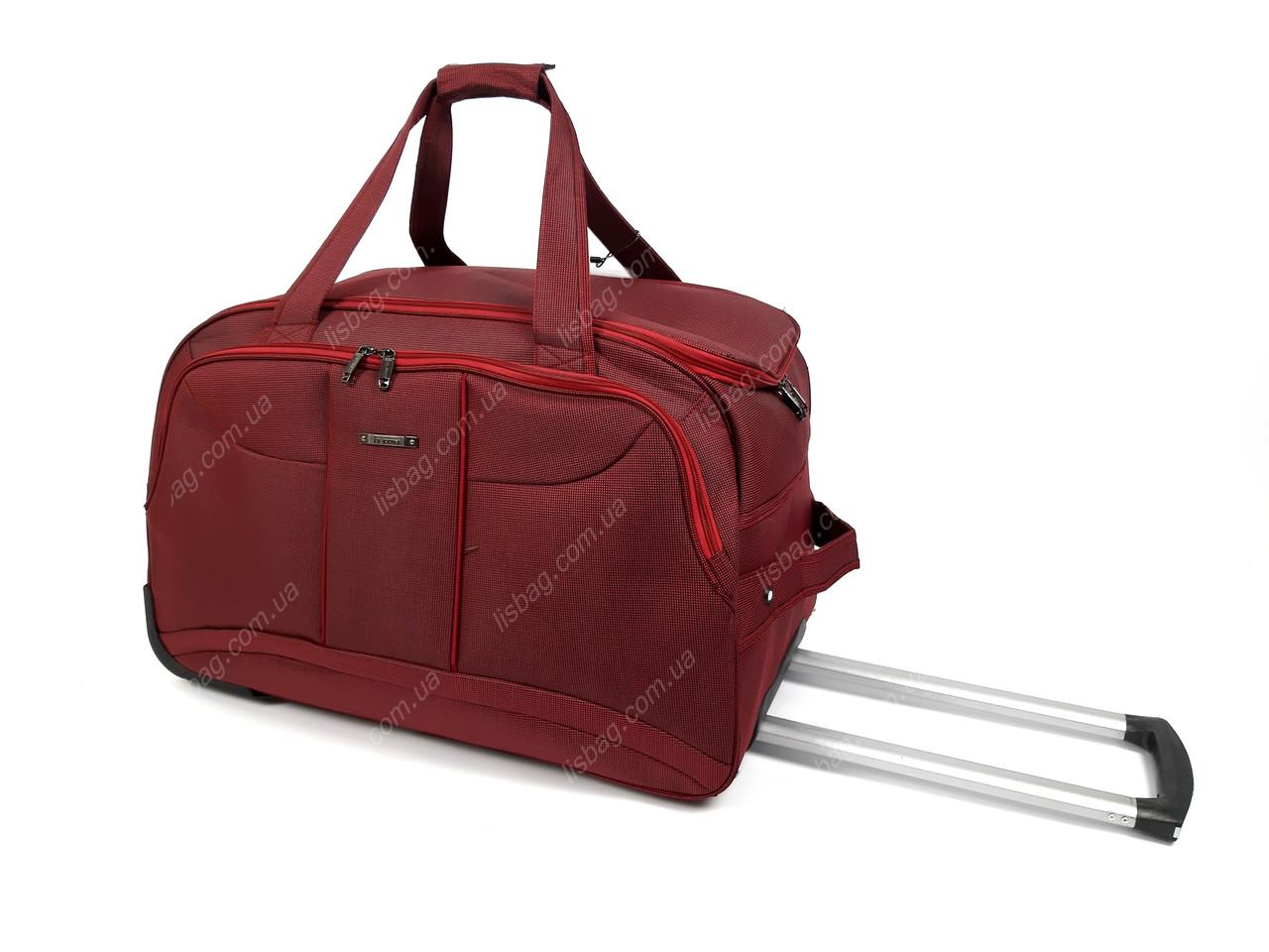 4a28725e97e8 Большая сумка на 3х колесах прочная L (80 л) Бордовая (64*34*38 ...