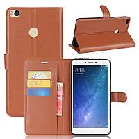 Чехол-книжка Litchie Wallet для Xiaomi Mi Max 2 Коричневый