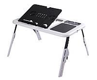 Подставка для ноутбука Tina E-Table столик с двумя USB кулерами
