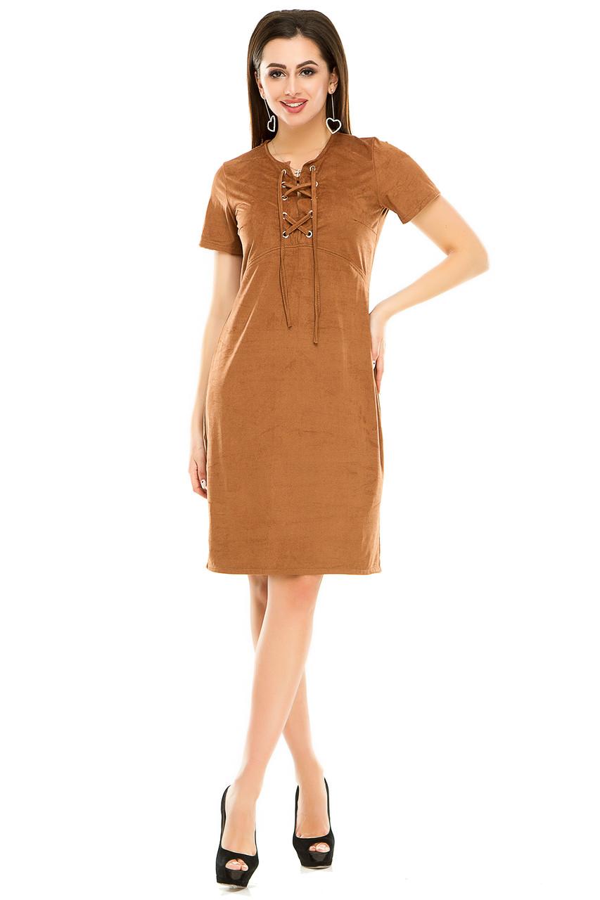 Платье 296 коричневого цвета