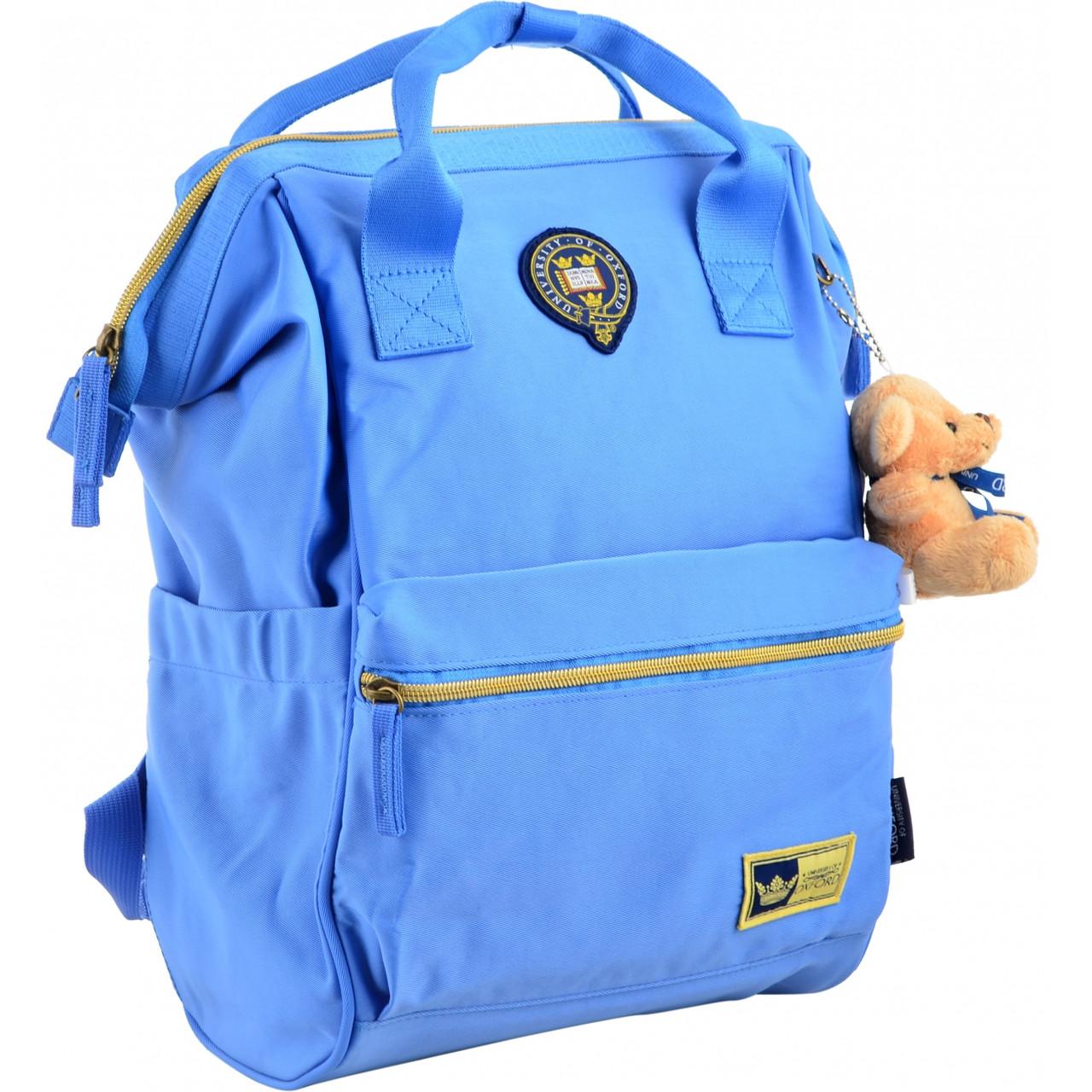 Рюкзак молодежный OX 385, 40*26*17.5, голубой